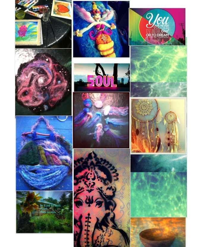 First pinterest collage Soul