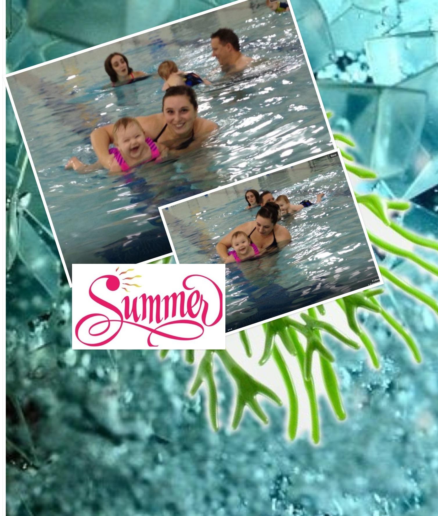 Adalyn learns to swim