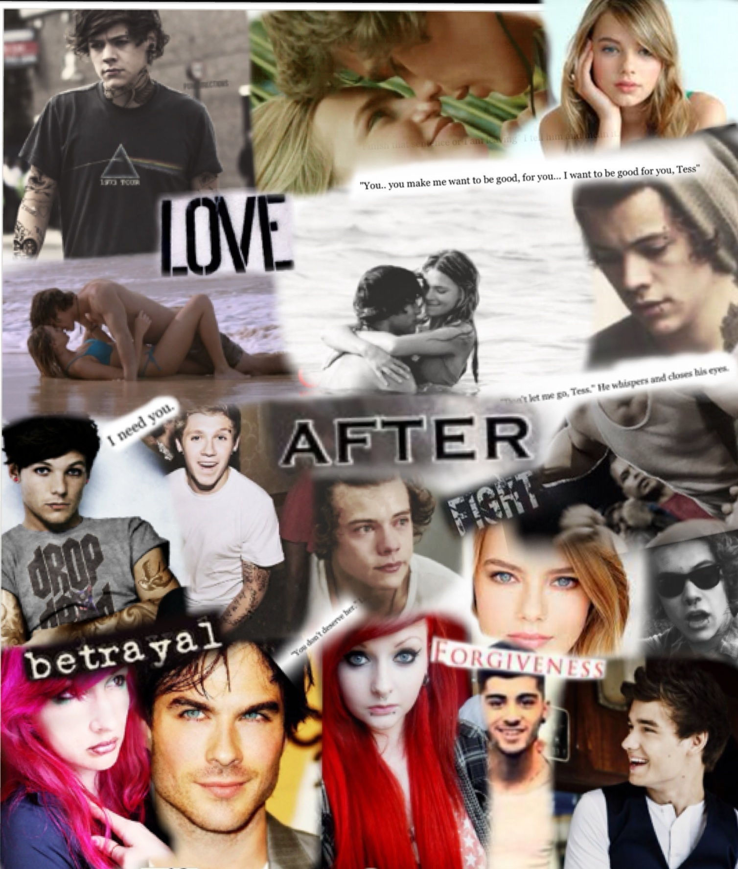 After fanfic collage